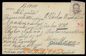 29226 - 1950 Mírov  pohlednice zaslaná na vězně trestnice Mírov
