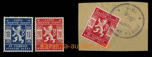 29231 - 1918 Pof.SK1-2, in addition cut square SK2 with postmark Sco