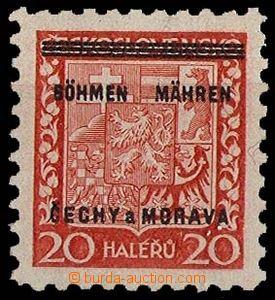 29235 - 1939 Pof.3 s DV chybějící u ZP 100, zk. Kar, kat. 600Kč
