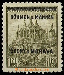 29236 - 1939 Pof.13 with plate variety MAHNEN pos. 26, lightly hinge