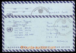 29256 - 1994 Czech Republic  2 pcs of Us aerogram sent to Czech Repu