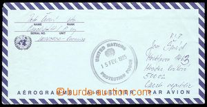 29257 - 1995 Czech Republic  aerogram from member of Czech batt/A co