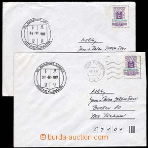 29259 - 1996-7 Czech Republic  2 pcs of franked with. letters with c