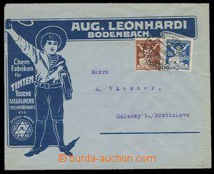 29263 - 1922 reklamní obálka fy. Aug.Leonhardi Bodenbach, továrna
