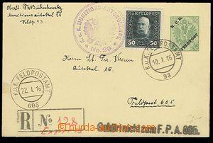 29264 - 1916 bosenská dopisnice s přetiskem KuK Feldpost, Mi.FP2,