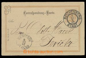29273 - 1897 PC 2 Kreuzer, Mi.P74, with additional-printing on rever