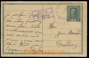 29285 - 1916 dopisnice 8h FJ s razítkem poštovny ŽELČ, MOR. + DR