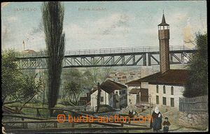 29295 - 1907 SARAJEVO - viadukt, dřevěná mešita. Barevná, proš
