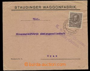 29311 - 1915 commercial envelope Staudinger Waggonfabrik with Austri
