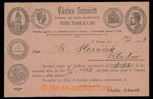 29312 - 1899 soukromý koresp. lístek s druhostranným přítiskem