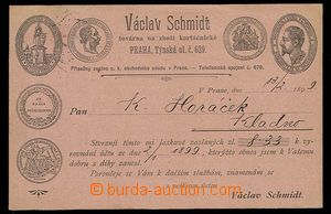 29312 - 1899 private correspondence card with druhostranným additio