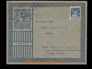 29318 - 1921 reklamní obálka fy Vydra  a Bohuslav Praha, stroje a