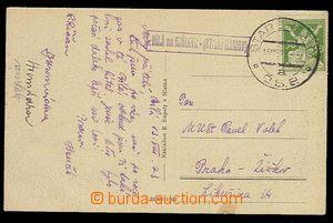 29325 - 1923 postcard from White with postal agency pmk BÍLÁ on/fo