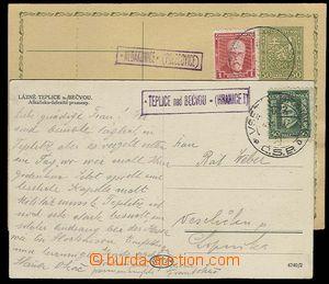 29343 - 1927 2 pcs of entires with postal agency pmk + railway pmk,