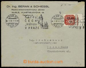 29346 - 1940 commercial letter paid/franked. stamp. GD-OT with priva