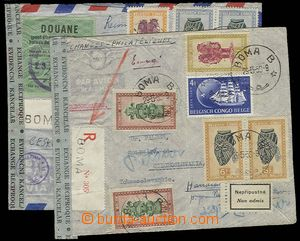 29350 - 1950-51 2 pcs of Reg and airmail letter sent to Czechoslovak