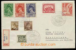 29353 - 1945 R-dopis s PR MODRA 1/ odhalení pomníku Ĺudovíta Št