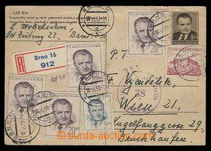 29355 - 1953 CDV109 zasalaná as Registered to Vienna, uprated by. s