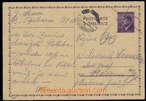 29387 - 1945 Bohemian and Moravian PC 60h CDV16, crossed out with na