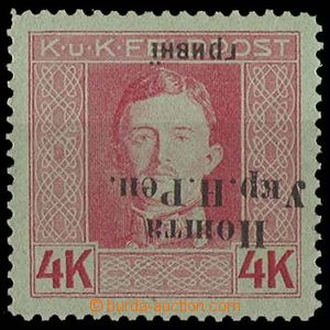 29402 - 1919 WEST UKRAINE, Mi.87 with inverted opt (!), catalogue in