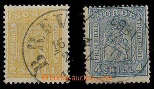29403 - 1865-68 Mi.6, 14, pěkné části razítek, kat. cca 200€
