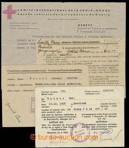 29406 - 1943-45 věznice BAYREUTH St. GEORGEN + PANKRÁC Praha, doku