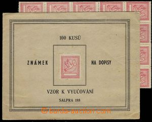 29446 - ? school stamps Pigeon-issue with letter in red color, folde
