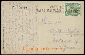 29455 - 1910? AUSTRIA  pohlednice Terstu s řádkovým raz. VAPORE /