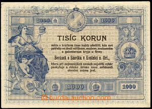 29468 - 1910? advertising in form of 1000 Koruna bank note/-s on/for