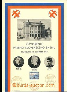 29475 - 1939 commemorative sheet to opening First Slovak congress 18