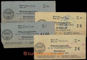 29508 - 1940 ČaM  Boleta potravní daně města Brna, Dlažebné hodnoty
