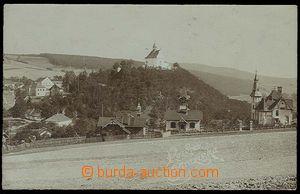 29541 - 1906 STRAŽISKO - fotopohlednice, hnědý tón, celkový záběr, p