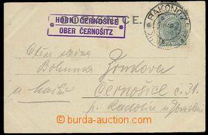 29555 - 1903 poštovna HORNÍ ČERNOŠICE/ OBER ČERNOŠITZ, fialov�