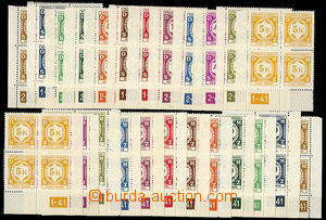 29568 - 1941 I. official, Pof.SL1-12, selection of L and P corner bl