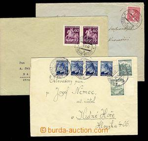 29624 - 1940-43 sestava 5ks dopisů s raz. VLP, 2x předběžné  č