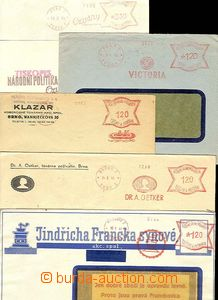 29626 - 1941-43 comp. 5 pcs of entires with print meter stmp, PARDUB