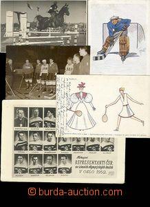 29635 - 1938 SPORT, sestava 17ks pohlednic se sportovním motivem, 2x