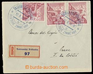 29686 - 1938 Reg letter with stamps Pof.332 3x, and special postmark