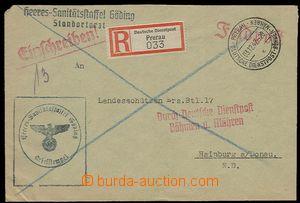 29699 - 1942 D.D. BuM Prerau/ 3.12.42, luxusní razítko na R-dopise