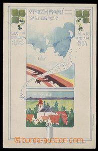 29707 - 1904 Sokol  Sletová pohlednice Sokola v České Třebové,