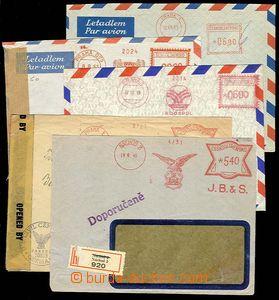 29725 - 1945-53 5ks obálek s OVS, NÁCHOD J.B.&S. / 9.8.45 jako R d