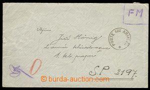 29745 - 1940 FRANCE  Poste Aux Armees round postmark on letter addre