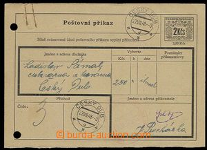 29748 - 1948 CPA4/ volume I, order sheet with value 2Kčs in/at orna