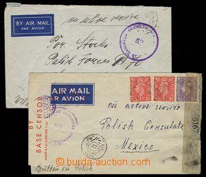 29753 - 1944-45 POLISH ARMY IN ENGLAND   2 pcs of envelopes from mem