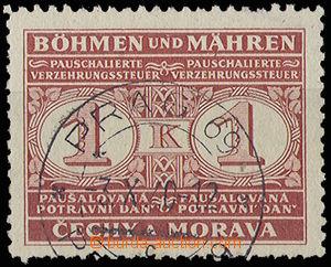 29758 - 1940 Pof.PD1, stmp food tax with CDS Prague 69/ 3.X.40, c.v.