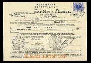 29761 - 1933 Koncese na přemístění radiopříjmače v česko - n