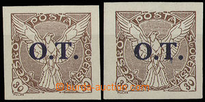 29763 - 1934 Pof.OT3, types I + II.., good margins, mint never hinge