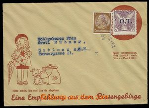 29801 - 1938 advertising envelope with printings děvčátka with do