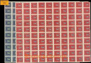 29804 - 1919 ZÁPADNÍ UKRAJINA  2 kompletní neperforované 100-zn�