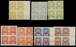 29807 - 1945 Mi.81-86, in blocks of four, 3x marginal block, value 6